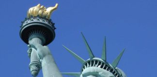 the statue of liberty torch