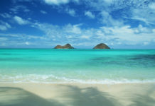 Kailua beach beautiful scenery