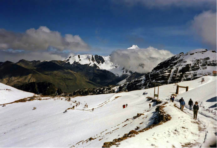 Skiing in la paz bolivia