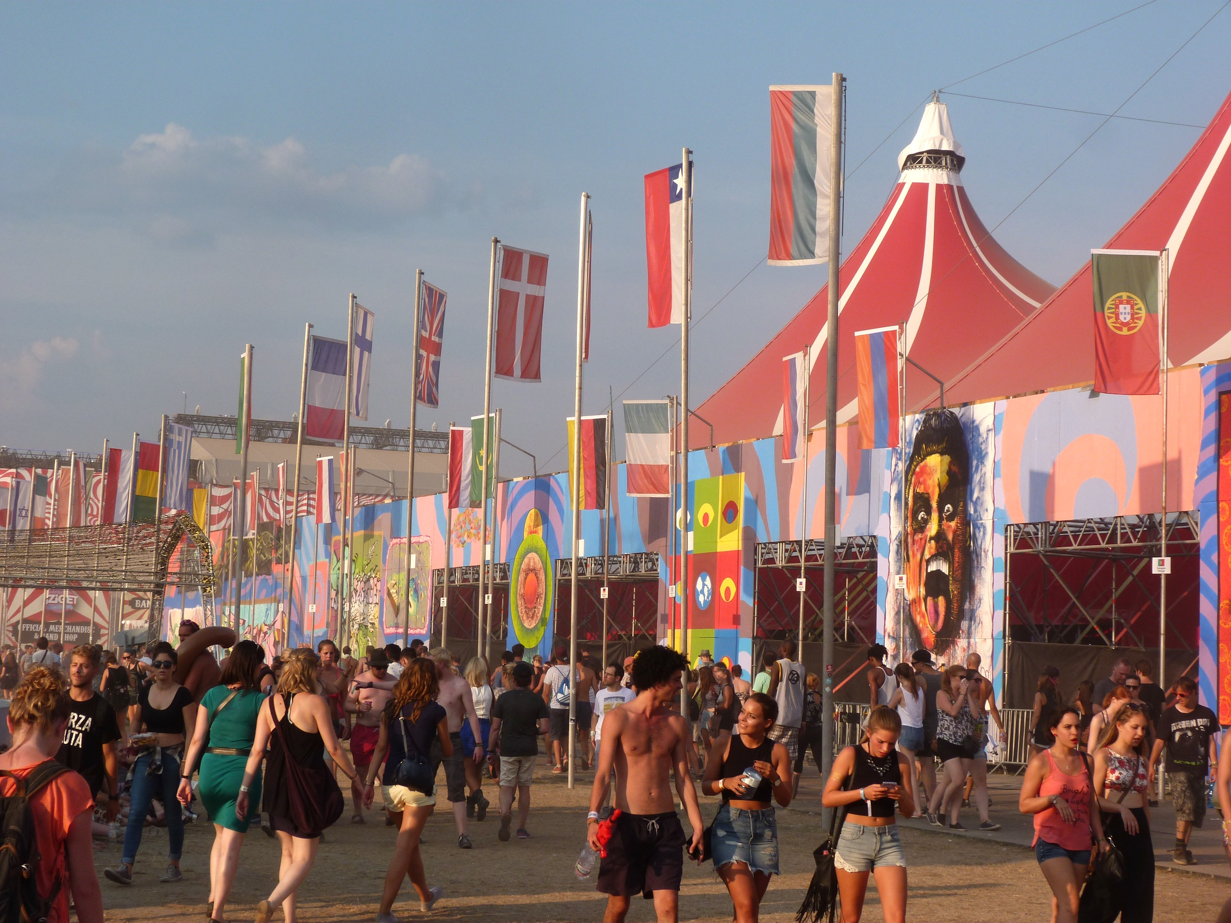 Sziget festival tents