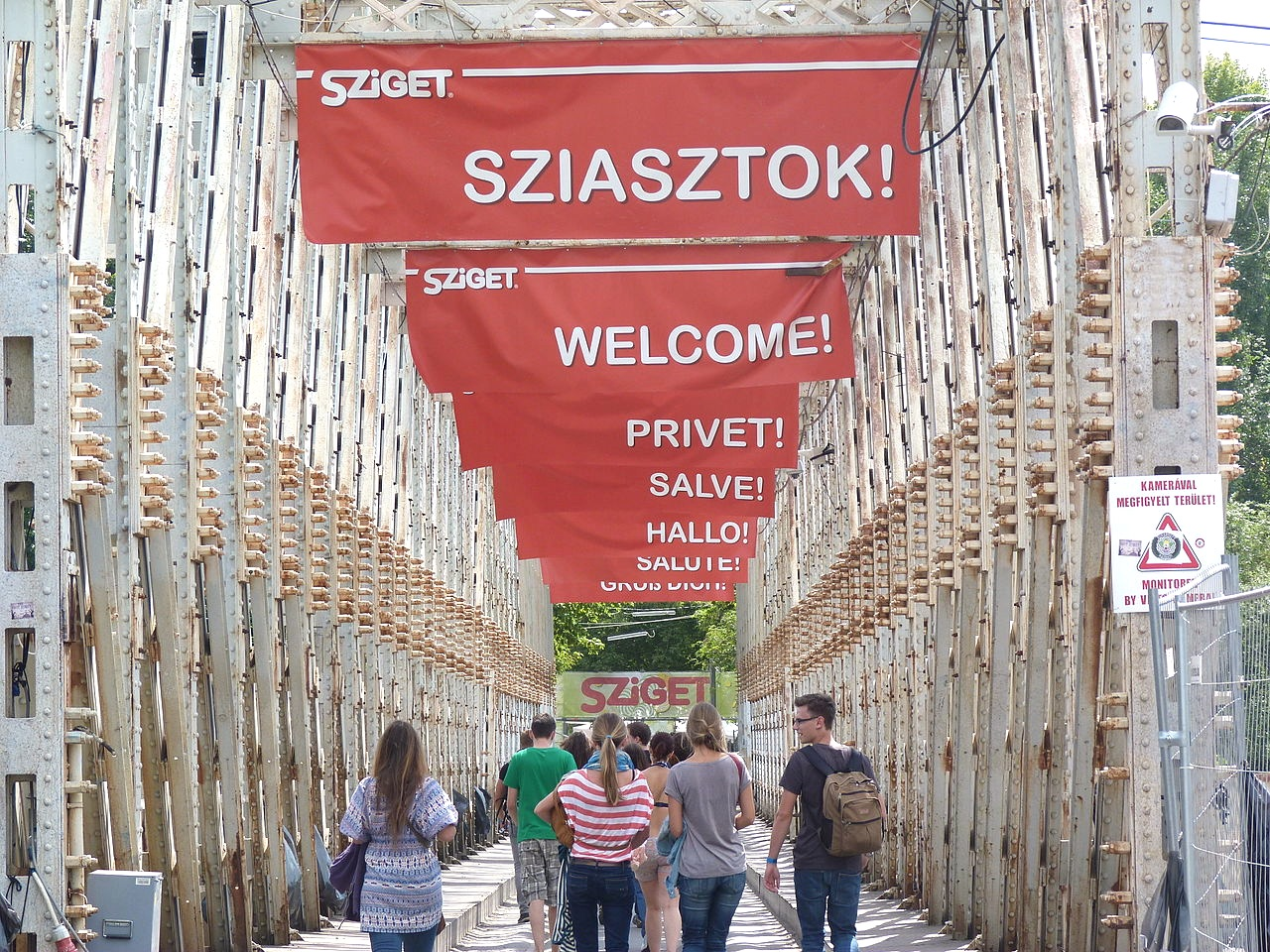 Sziget festival welcome
