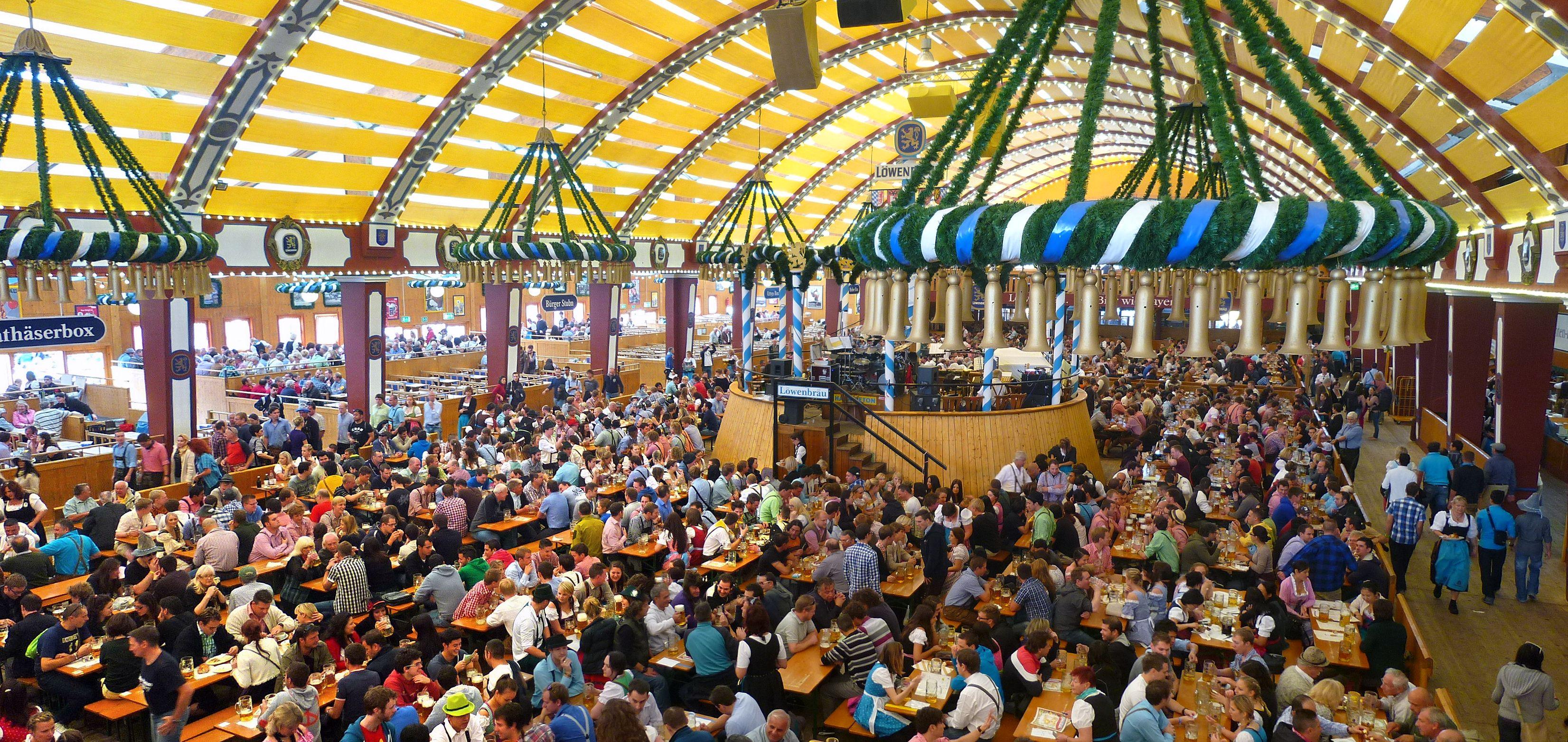 Oktoberfest beer hall
