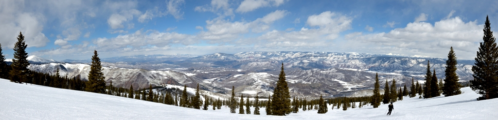Colorado Winter - Aspen Panoramic View