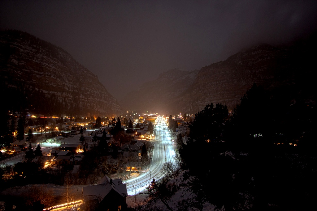 Colorado Winter-Ouray-at-night
