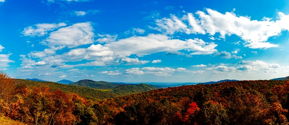 Shenandoah valley, Blue Ridge Mountains