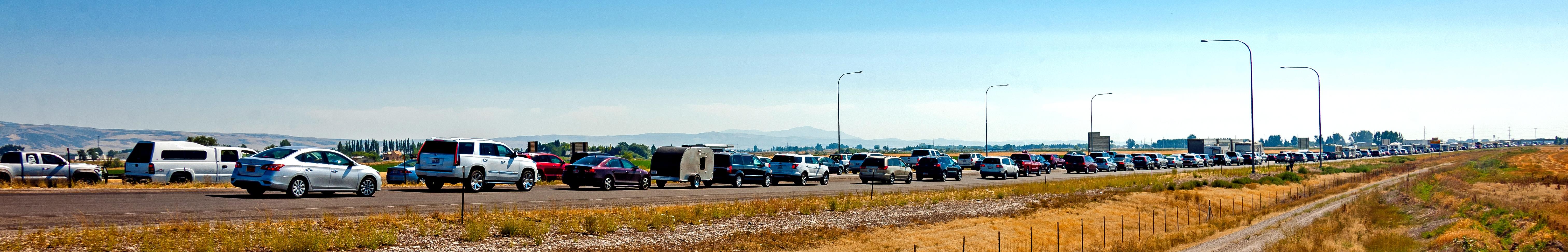 Traffic jam eclipse 2017 us