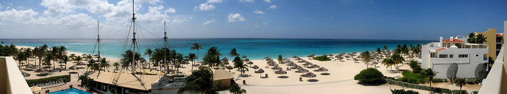Caribbean Islands - Aruba Panorama