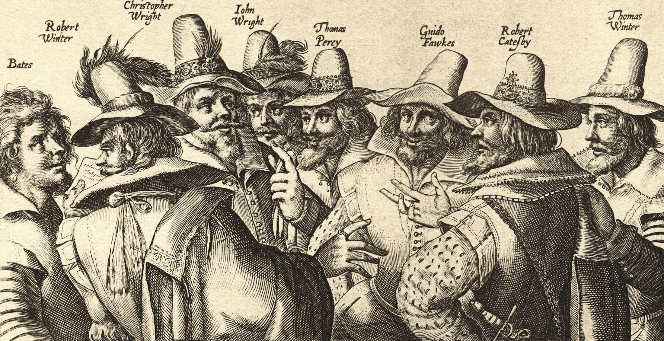 Guy Fawkes Night - Gunpowder plot conspirators