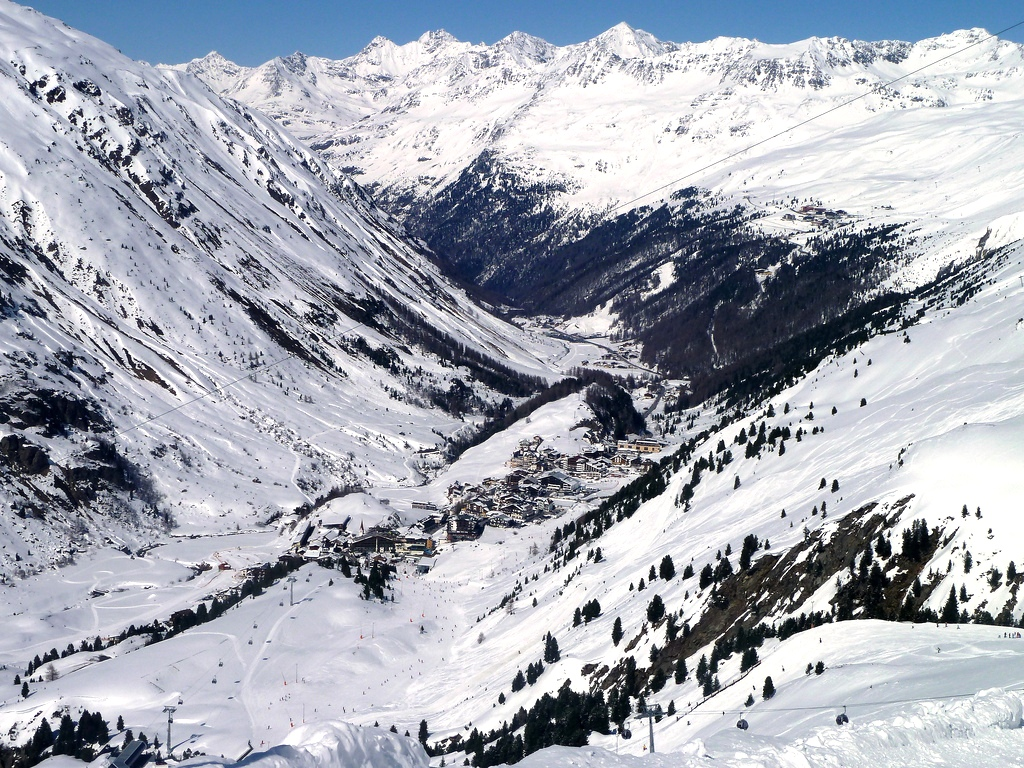 Skiing in the Alps - Ski Resort in Obergurgl