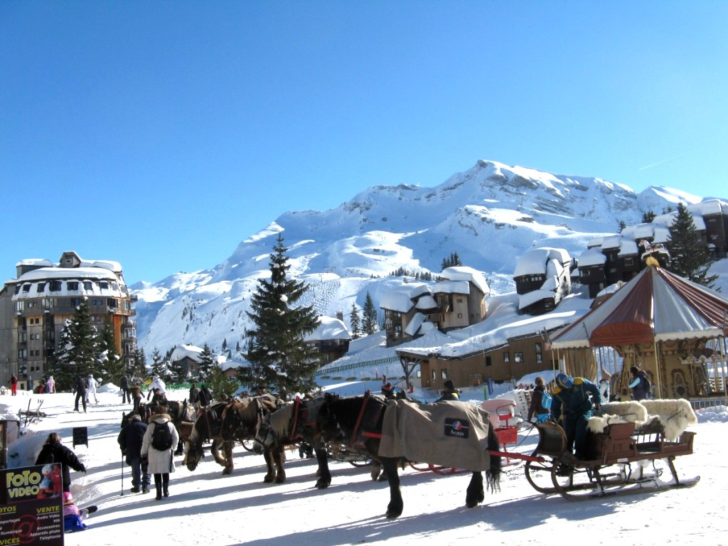 Skiing in the Alps -The Alps during Christmas