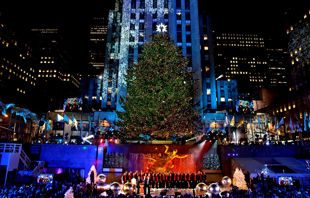 Lightning ceremony Christmas in New York City