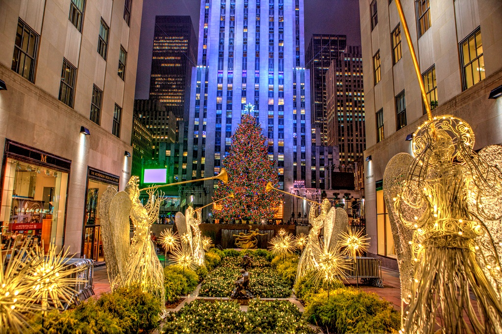 Christmas in New York City Rockefeller center