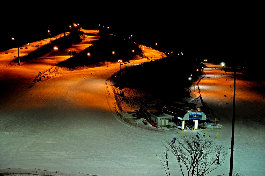 Alpensia Ski Resort At Night