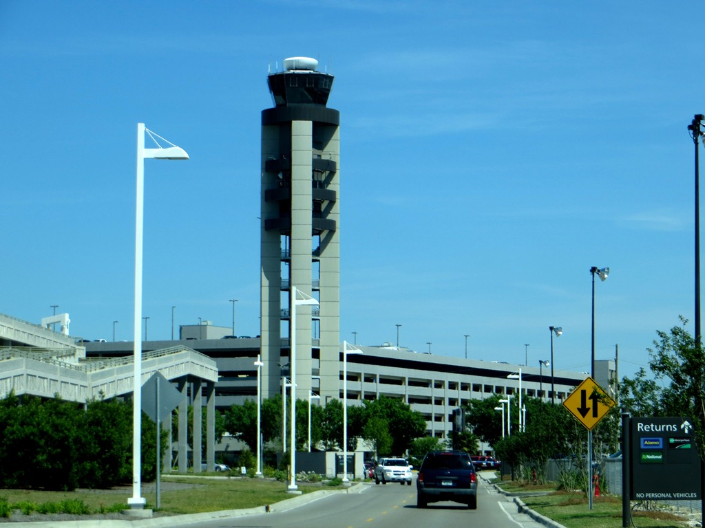Control tower at msy airport, april 2014