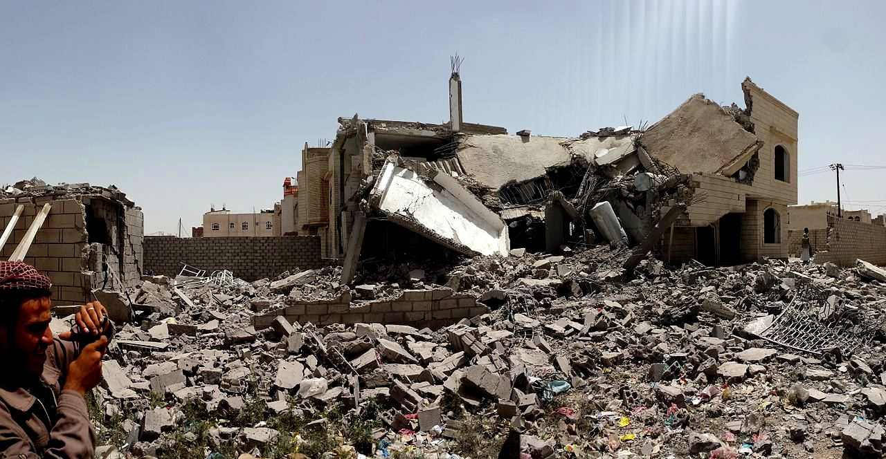 Saudi Arabia Travel Restrictions - Destroyed House in the South of Sanaa