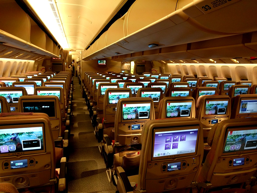 Emirates First Class - Economy Class