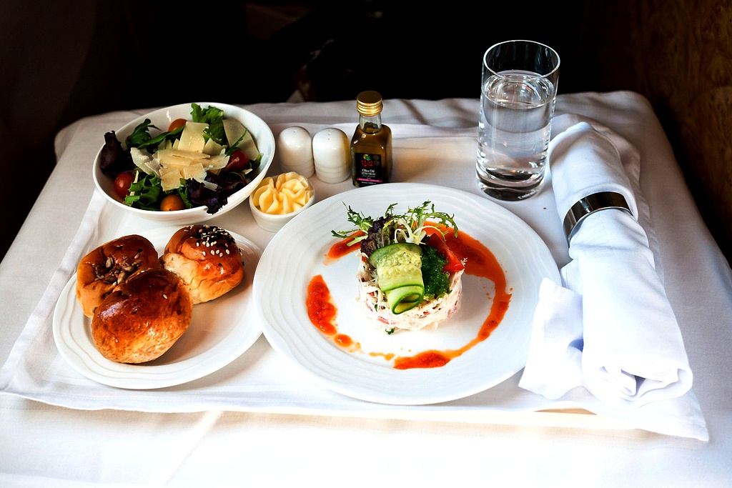 Emirates First Class - Meal