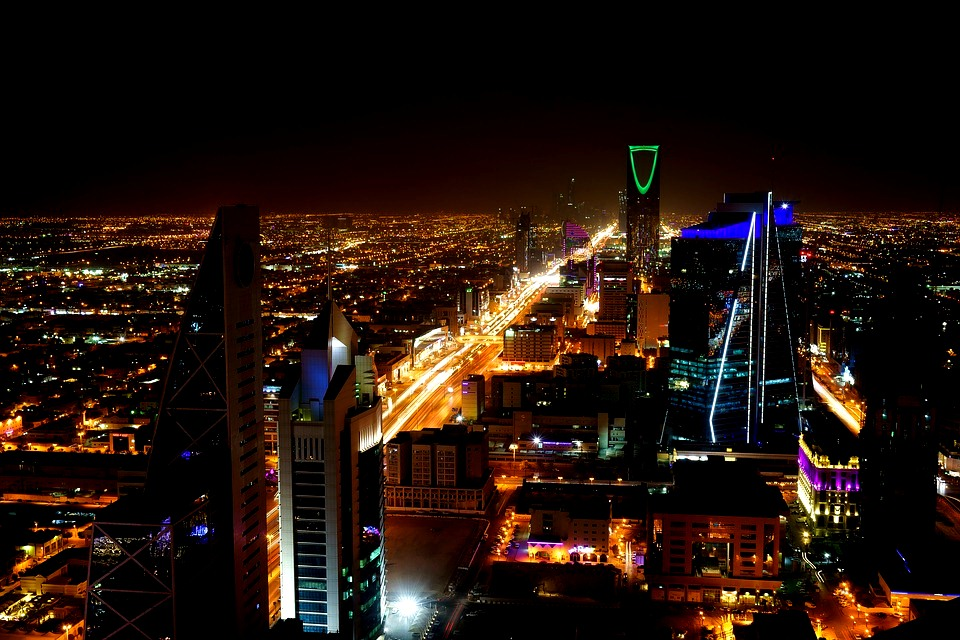 Saudi Arabia Travel Restrictions - Riyadh at night