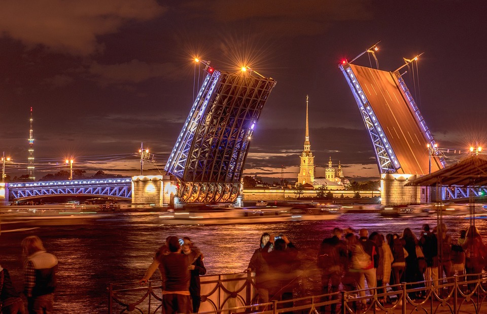 St petersburg peter and paul fortress bridge russia tourist visa