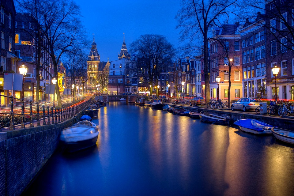 Amsterdam Light Festival - City Canals at Night