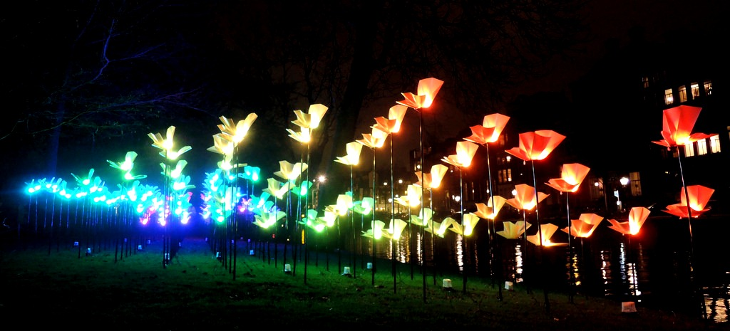 Amsterdam Light Festival - Park installation
