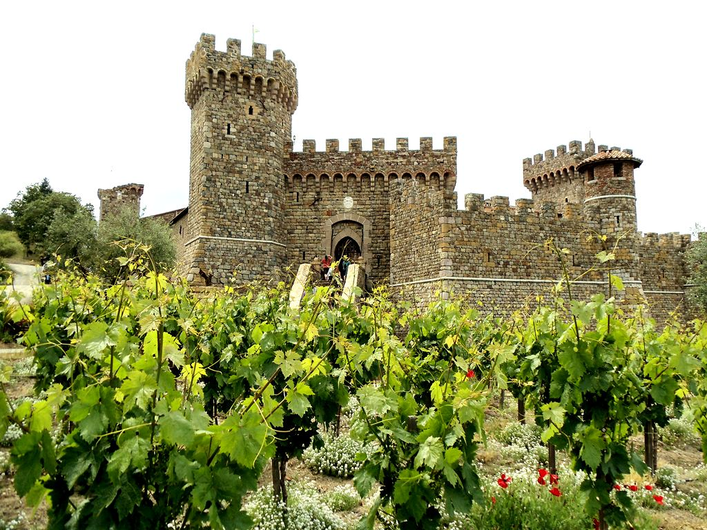 Valentine's Day - Castello di Amorosa Winery, Napa Valley.