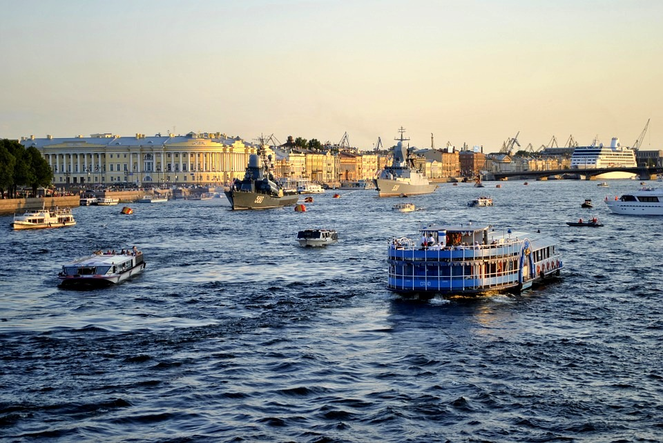 St. Petersburg - Over Neva River